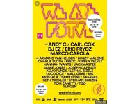 WE ARE FSTVL weekend camping tickets