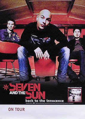 Seven & The Sun 2002 Back To The Innocence Original Tour Poster