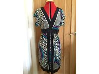 Silk Warehouse Mosaic Aztec-Print Dress - Size 12