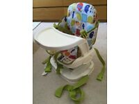 Mamas & Papas Chair Mounted Travel Booster Seat/Highchair - Carry Bag - Boxed
