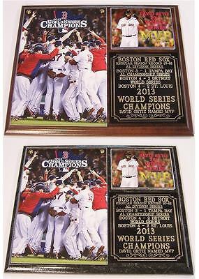 - Boston Red Sox 2013 World Series Champions Photo Plaque David Ortiz MVP