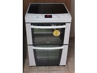 6 MONTHS WARRANTY Zanussi AA enegry rated, double oven electric cooker FREE DELIVERY