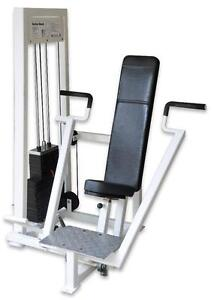 FULLY REFURBISHED COMMERCIL  APEX CHEST PRESS STACK UNIT WITH PRESTRETCH LEVER, WORKING BEAUTIFULLY