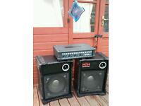 H&H pro-100 speakers plus kustom amp