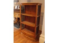 Solid Indian Wood and Cast Iron Bookcase / Shelving Unit. Very Best Quality Hand Made Piece