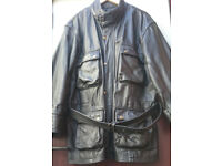 Leather motorcycle jacket (Belstaff panther style)