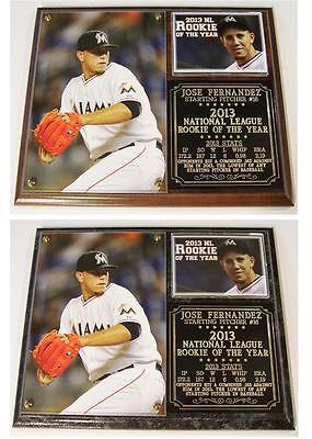Jose Fernandez #16 2013 NL Rookie of the Year Miami Marlins Photo Plaque