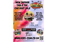 Kids Community Car Boot Sale - Indoor Table Top - SUN 29TH APRIL 2018