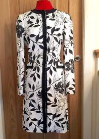 Principles Collection Black & White Formal/Wedding/Summer Linen Dress Coat - Size 8