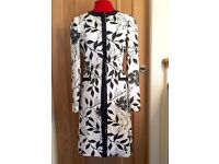 Principles Collection Black & White Formal/Wedding/Summer Linen Dress Coat - Size 8