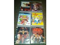 PS3 GAMES LOLLIPOP CHAINSAW, SIMPSONS GAME, TEKKEN 6, TOY STORY MANIA, SOUL CALIBUR IV, STRANGLEHOLD