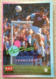 WEST HAM UNITED FC UTD IRONS HAMMERS YEARBOOK 1990-91 HANDBOOK OFFICIAL FOOTBALL CLUB PROGRAMME MINT
