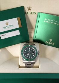 2016 Rolex Submariner 116610LV Box and Papers HULK