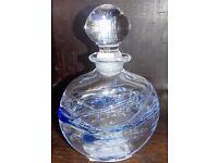 Blue swirl perfume bottle
