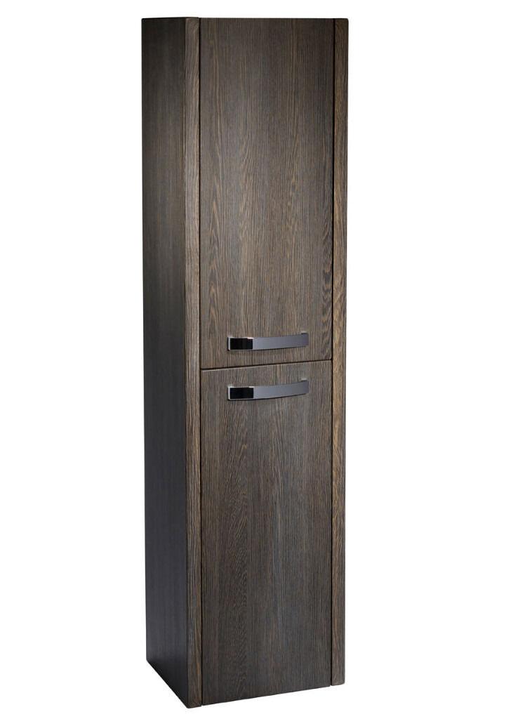 new bathroom storage cabinet tall tavistock impact java wood grain effect 1400l x 350w x. Black Bedroom Furniture Sets. Home Design Ideas