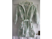 JOHN LEWIS PONY PATTERN DRESSING GOWN - 6-7 YEARS