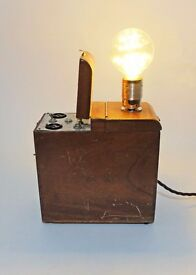 Upcycled Vintage Clive Courtenay Flash Battery Box Lamp OOAK - Photography Interest