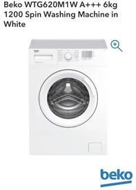Beko 6kg white washing machine NEW