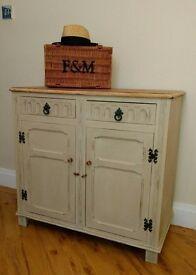 Cream Shabby Chic Dresser/Sideboard/Cupboard in Solid Oak