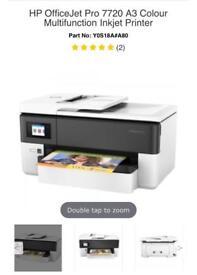 HP Officejet Pro 7720 A3 Printer- Brand New!