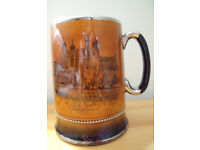 Vintage Royal Bradwell gilded Tower of London/St Paul's Cathedral mug/tankard/beer stein. £12 ovno