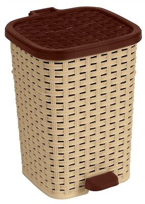superio step on trash can wicker look