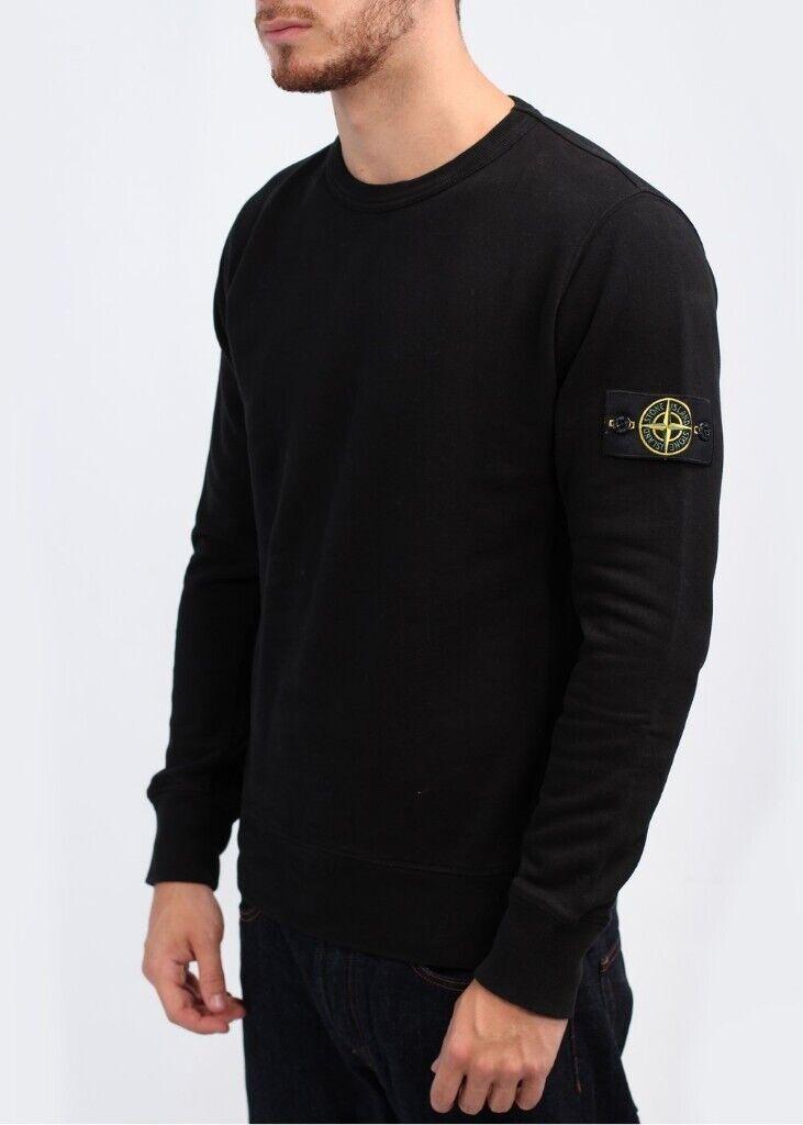 fafb9a86e nwt mens stone island sweatshirt size small black top polo jumper   in ...