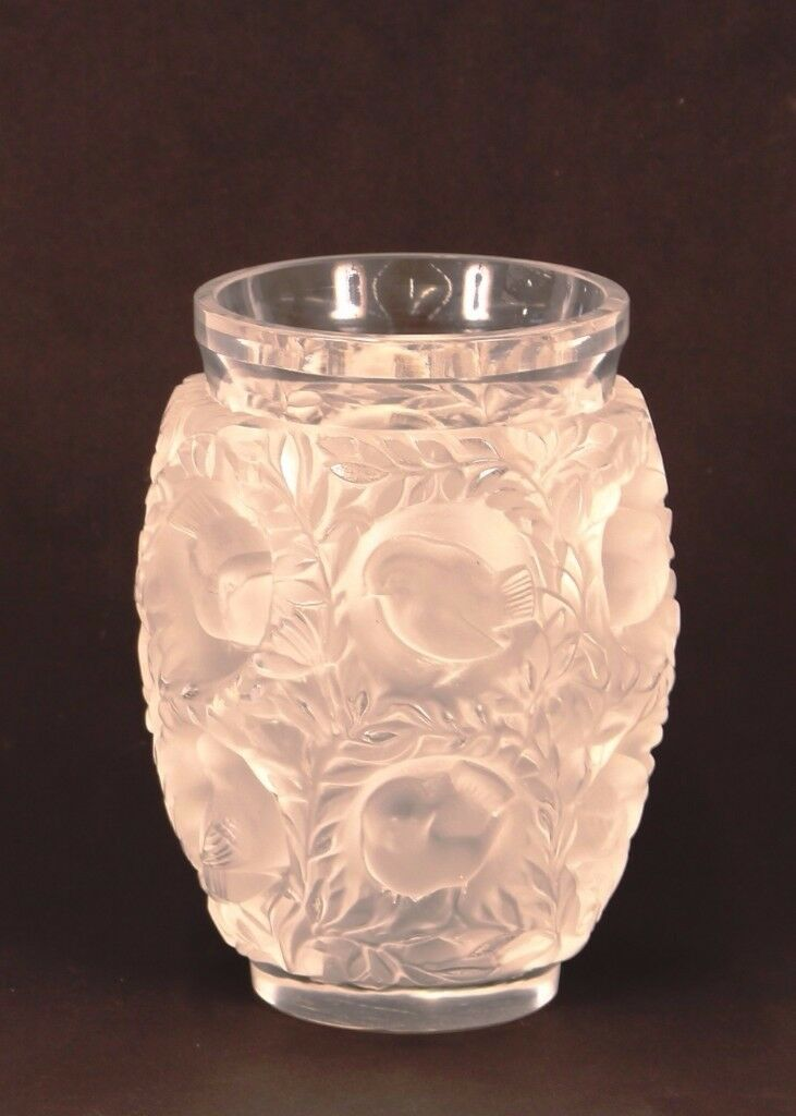 """Lalique """"Hardi"""" vase, signed Lalique France 17cm high"""