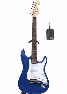 Electric guitar with mini amp brand new elec guitar iMEB270 blue finish
