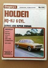 HOLDEN HQ-HJ 71-76 WORKSHOP MANUAL 6 CYL. VERY GOOD COND Gympie Gympie Area Preview