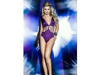 Purple Bodysuit/Romper/Swimsuit