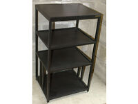 Apollo four shelf black HiFi equipment rack