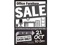 Office Furniture Sale-On Saturday the 21st October from 10am to 3pm-Desks-Chairs-Cabinets-Screens