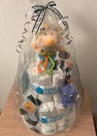 Baby shower gift/ baby party gift/ nappy cake