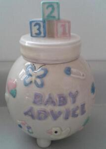 Baby Advice Footed Jar with Lid