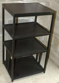 Apollo four shelf black HiFi equipment rack