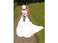 Eternity Wedding Dress + Veil + Hoop (Bri)