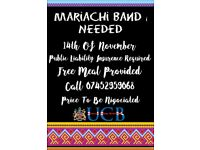 Mariachi Band Wanted - Details Below