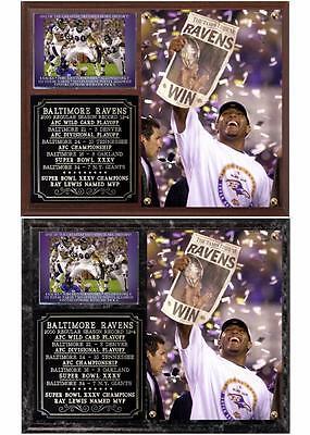 Baltimore Ravens Super Bowl XXXV Champions NFL Photo Plaque Ray Lewis MVP Baltimore Ravens Super Bowl Champions