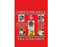 CARPETS AND VINYLS !! SUPPLIED AND FITTED WITH FREE FITTING ON EVERY CARPET AND VINYL !!