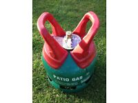 Gas Bottle for BBQ. Calor Patio Gas 5Kg around 3/4 Full