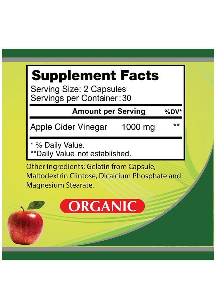 Premium Apple Cider Vinegar Pills 1000mg High Potency Fast Acting 100% Pure orga 2