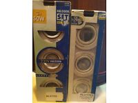 6 x GU10 Mains Voltage Downlights / Spotlights - White