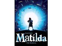 MATILDA THE MUSICAL - 3 Tickets - Dress Circle - Thu 27 Oct 2016 19:30