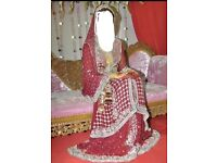 Bridal wedding dress red dress lehnga outfit