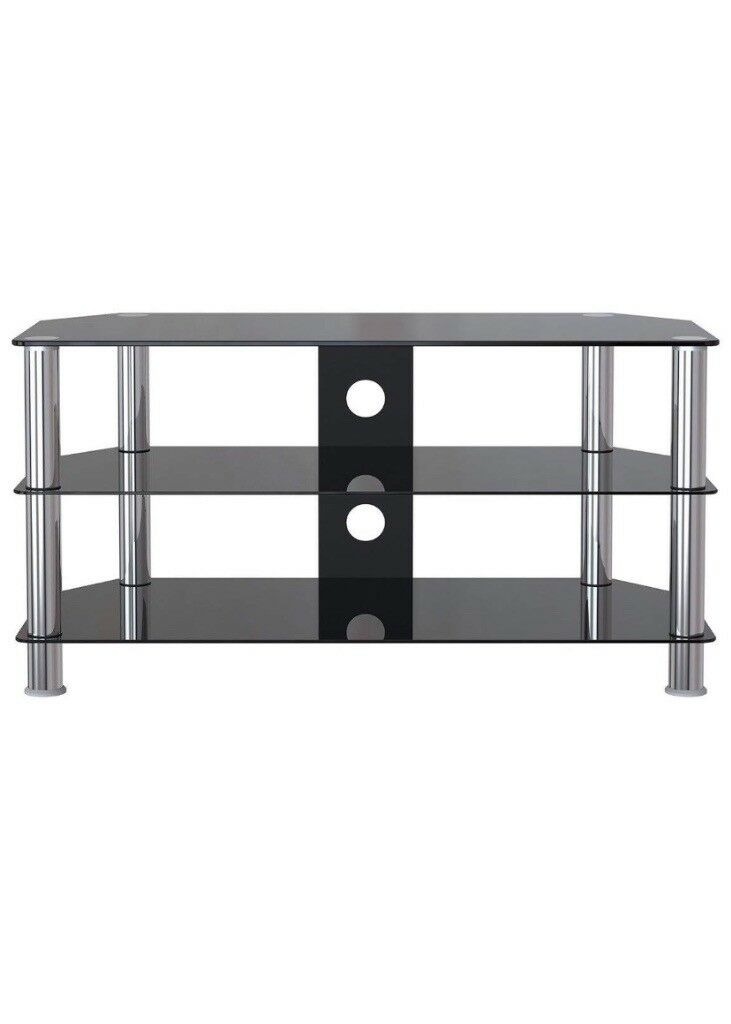 Black Glass Tv Stand For 32 60 Inch Tvs New In Penicuik Midlothian