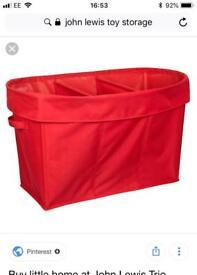 Red JOHN LEWIS Toy Storage - BRAND NEW