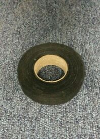 Adhesive cloth fabric harness loom wiring tape. 19mm wide x 15 mtrs long black tape