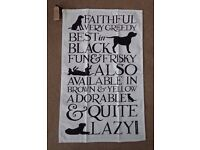 BRAND NEW Emma Bridgewater Black Labrador Tea Towel