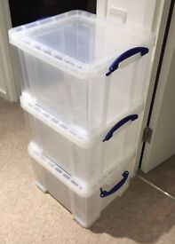 3x 35L Really Useful Boxes